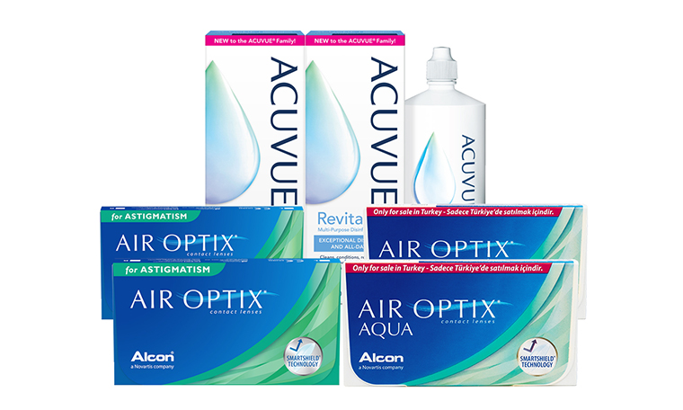 air optix aqua air optix for astigmatism kombi set İndirimli lens