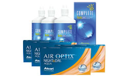 Air Optix Night & Day AQUA Kombi Set (Complete Solüsyonlu)