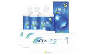 Acuvue 2 Kombi Set 4 Kutu (Complete Solüsyonlu)