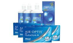 Air Optix Plus HydraGlyde® Kombi Set (Complete Solüsyonlu)