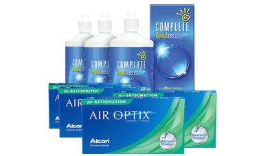 Air Optix for Astigmatism Kombi Set 4 Kutu (Complete Solüsyonlu)