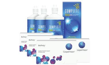 Yıllık Biofinity Kombi Set 4 Kutu (Complete Solüsyonlu)